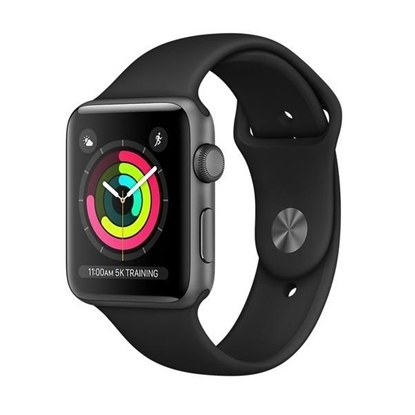 Picture of Apple Watch Series 3 GPS 42mm Space Grey Aluminum Case with Black Sport Band
