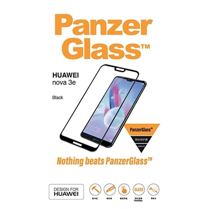 Picture of PanzerGlass , Screen Protector for Huawei Nova 3E - Black