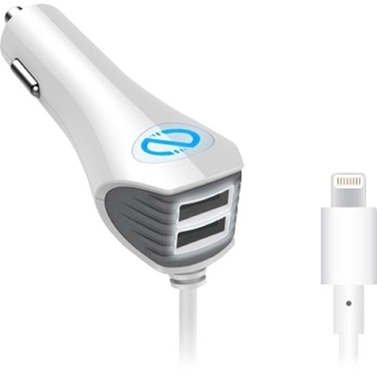Picture of Naztech ,N420 Wired Trio Car Charger with Lightning Connector - White
