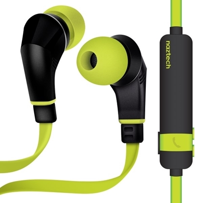 Picture of Naztech , NX80w Stereo Wireless Sports Earphones - Green/Black
