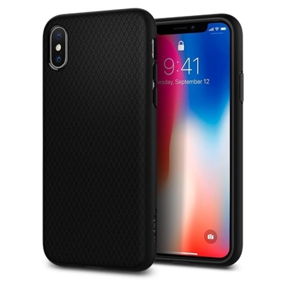 Picture of Spigen , Liquid Air Armor Case with Durable Flex and Easy Grip Design for Apple iPhone X - Matte Black