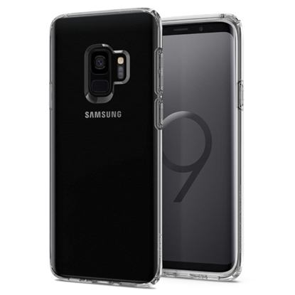 Picture of Spigen Liquid Crystal Case for Samsung Galaxy S9 - Crystal Clear