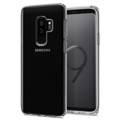 Picture of Spigen , Liquid Crystal Case with Durable Flexible Clear TPU Protection for Samsung Galaxy S9 Plus - Crystal Clear