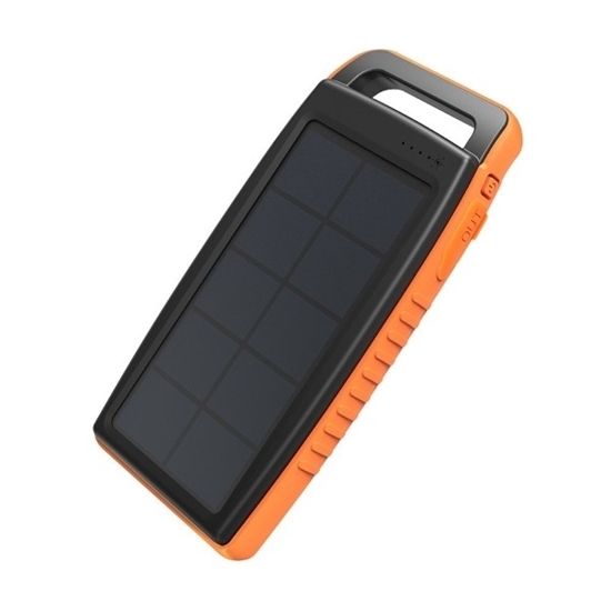 Picture of RAVPower , Solar Charger 15,000 mAh with Flashlight ( IPX4 Splashproof, Dustproof, Solar Panel Charging)