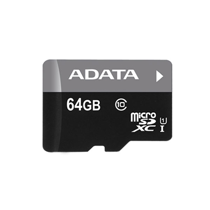 Picture of ADATA Premier 64GB microSDHC/SDXC UHS-I U1 Memory Card with Adapter