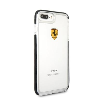 Picture of Ferrari Hard Case Racing Shield Transparent iPhone 7 / 8 Plus - Black