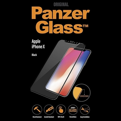 Picture of PanzerGlass Screen Protector Edge-to-Edge ,Case Friendly For iPhone X  - Black