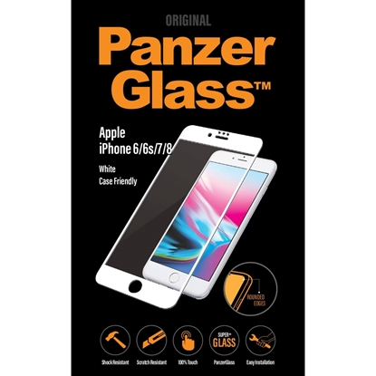 Picture of PanzerGlass Screen Protector For Apple iPhone 6/ 6S / 7 / 8 - White