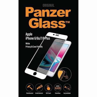 الصورة: بانزر جلاس ، حماية شاشة زجاجية، متوافق مع الاغطية لأجهزة أبل آيفون 6/ 6s / 7/ 8 بلس - ابيض