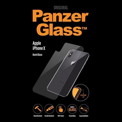 الصورة: بانزر جلاس ، حماية زجاجي خلفي لأجهزة أبل آيفون X  - شفاف