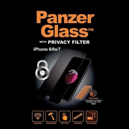 الصورة: بانزر جلاس ، حماية شاشة  زجاجية ،  لأجهزة أبل آيفون 6/6s/7/8 - ميزة الخصوصيه