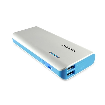 Picture of ADATA Power Bank 10,000 mAh with LED Flash Light - White & Blue