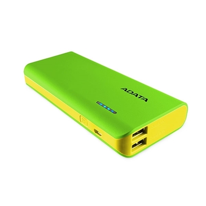 Picture of ADATA Power Bank 10,000 mAh with LED Flash Light - Green & Yallow