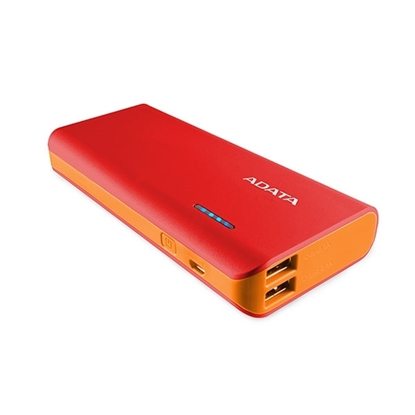 Picture of ADATA Power Bank 10,000 mAh with LED Flash Light - Red & Orange