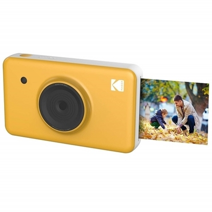 الصورة: كوداك ميني شوت كاميرا و طابعة صور  لاسلكية ، أصفر