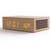 Picture of Homtime ,  M9qi Wooden Bluetooth Speaker with Alarm Clock and Wireless Charging