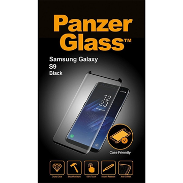 Picture of Panzer Glass Screen Samsung S9 Black Case Friendly