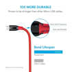 Picture of Anker , Powerline+ , Micro USB 3ft - Red
