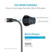 صورة انكر ، باور لاين+ كابل مقوى Micro USB  - رصاصي