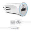 Picture of HyperGear , 2.4A Rapid Car Charger - Includes 4ft MFi Lightning Cable - White
