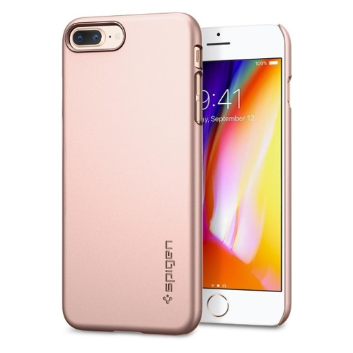 brand new 84780 9ef77 Spigen Case Thin Fit for Apple iPhone 7 / 8 Plus - Rose Gold