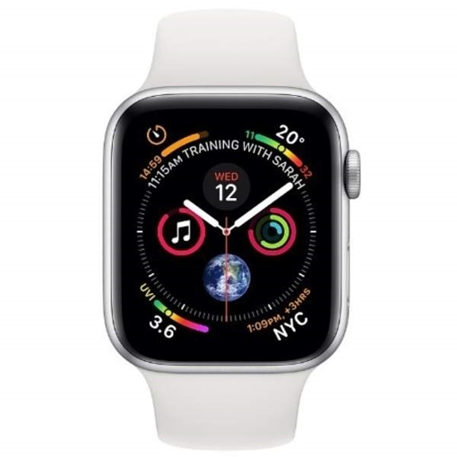 differently c9f3c ceb3e Apple Watch Series 4 GPS, 44mm Aluminium Case with White Sport Band - Silver