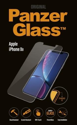 صورة بانزر جلاس ، حماية شاشة زجاجية ،لأجهزة ايفون اكس ار  - شفاف