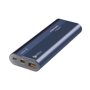 Picture of Promate Power Bank 18W PD 20000mAh With QC 3.0 - Blue