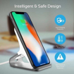 Picture of Promate Aluminium Crafted Ultra-Fast Wireless Charging Stand 10W With Charging Port - Silver