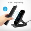 Picture of Promate Aluminium Crafted Ultra-Fast Wireless Charging Stand 10W With Charging Port - Black