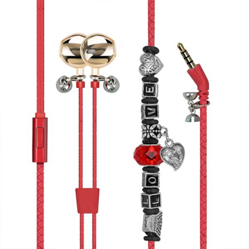 Picture of Promate Wearable Bracelet Style Wired Stereo Earphone Earphones - Red