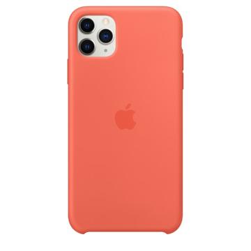 الصورة: ابل غطاء حماية خلفي سيليكون لاجهزة ابل iPhone 11 Pro - برتقالي