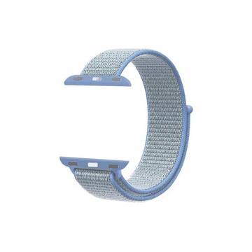 الصورة: بروميت شريط نسيج النايلون لساعات آبل بقياس 42مم - أزرق فاتح