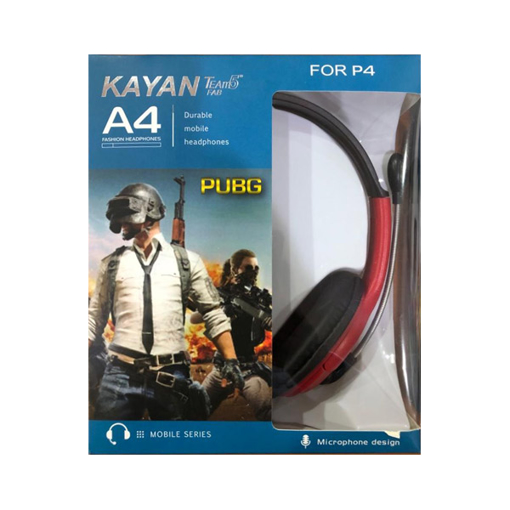 Picture of Kayan Headphone A4, Surround Gaming Headset Wired, Omnidirectional Microphone - Red