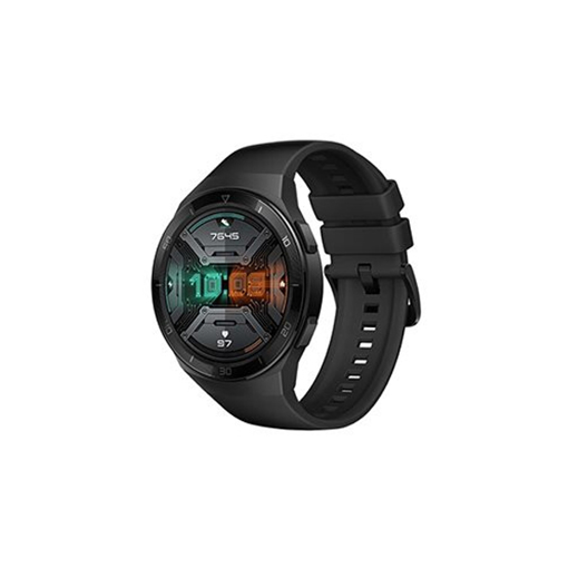 صورة هواوي ساعة جي تي 2 إي، 46 ملم، ستانلس ستيل - أسود