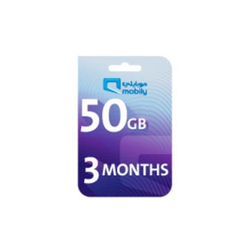 الصورة: موبايلي بطاقة اعادة شحن الانترنت 50 جيجا لمدة 3 أشهر