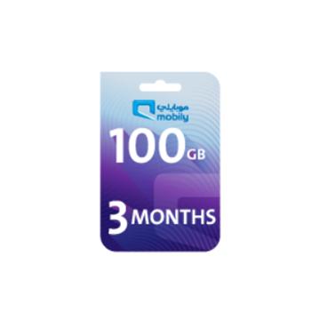 الصورة: موبايلي بطاقة اعادة شحن الانترنت 100 جيجا لمدة 3 أشهر