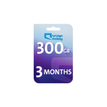 الصورة: موبايلي بطاقة اعادة شحن الانترنت 300 جيجا لمدة 3 أشهر