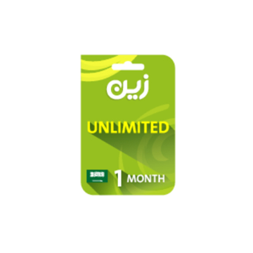 الصورة: بطاقة زين مسبقة الدفع لشحن الانترنت غير محدوده - لمدة شهر