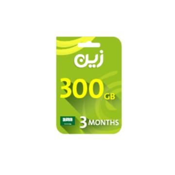 الصورة: بطاقة زين مسبقة الدفع لشحن الانترنت 300جيجا - لمدة3 أشهر