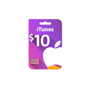 الصورة: بطاقة ايتونز 10 دولار (المتجر الأمريكي)
