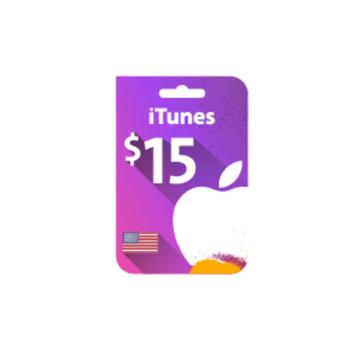 الصورة: بطاقة ايتونز 15 دولار (المتجر الأمريكي)