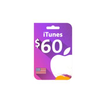 الصورة: بطاقة ايتونز 60 دولار (المتجر الأمريكي)