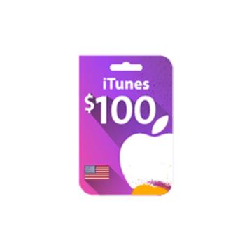 الصورة: بطاقة ايتونز 100 دولار (المتجر الأمريكي)
