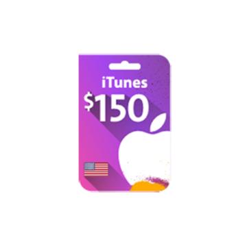 الصورة: بطاقة ايتونز 150 دولار (المتجر الأمريكي)