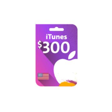 الصورة: بطاقة ايتونز 300 دولار (المتجر الأمريكي)