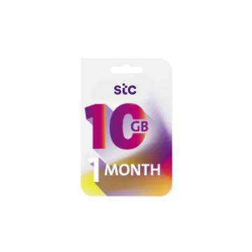 الصورة: STC بطاقة كويك نت -10جيجا - لمدة 1 شهر