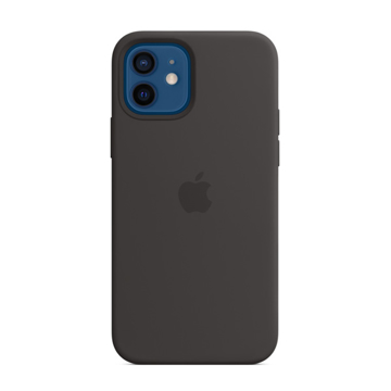 Picture of Apple iPhone 12 Pro Max Silicone Case with MagSafe - Black