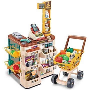 Picture of Limodo 48-Piece Home Supermarket With Cash Register