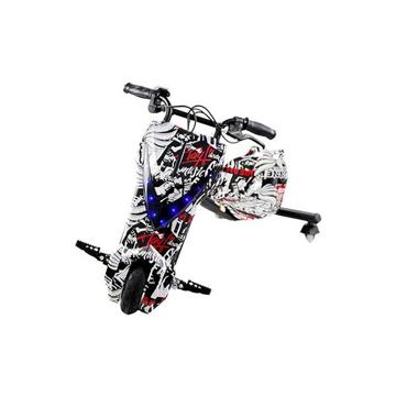 الصورة: ليمودو سكوتر درفت كهربائي بثلاث عجلات - أبيض / أسود
